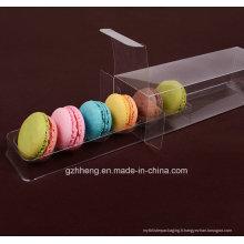 Boîte d'emballage en plastique claire de Macaron (paquet de gâteau)
