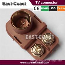 9.5MM PLUG 300OHM input/75Ohm output antenna balun matching transformer