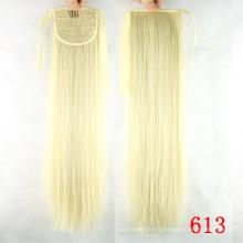 Wholesale Cheap Price Virgin Remy Human Hair Drawstring Ponytail White Women Human Hair Ponytail