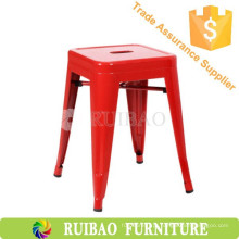 Red Small Size Industrial Metal Singer Foot Bar Stool Bases Metal Stool