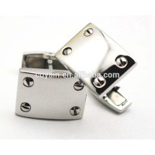 Stainless Steel Silver rectangle personalized cool cufflinks for men
