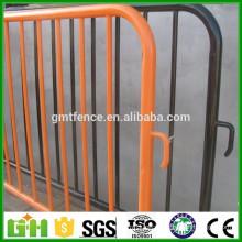 High quality detachable leg metal crowd control barriers