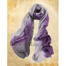 Latest Gorgeous fashion 100% silk chiffon scarf wholesale
