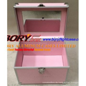 Classic Pink Hartaluminium Nail Kit Case Karton
