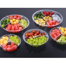Pet Clear Compartment Take Away Salad Food Container Tray 8
