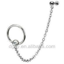 Tragus ligado à corrente BCR Barbell ear chain