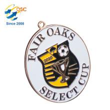 Alliage de zinc 3D antique or personnalisé Médaille de football militaire ruban Chine