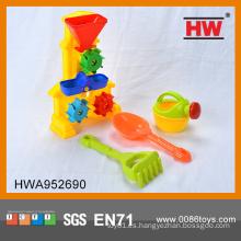 Funny 4 PCS playa de arena de plástico conjunto niños juguetes al aire libre