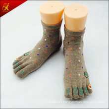 Carton Design Cute Style Toe Sock Copper