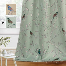 Birds Rustic Printed Curtain Drapes for Living Room