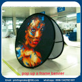 Tela Oval POP UP Display Banners con bolsa de transporte