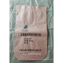 Bolsa de papel cuadrado inferior para carburo de silicio 25kg