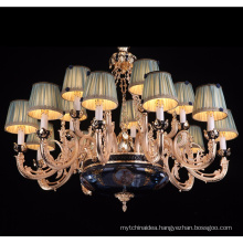 15 lights zinc alloy arm candle chandelier with crystal drops LT-88710