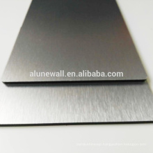 4MM Silver brush acp panel aluminum composite plate panel for wall cladding decoration
