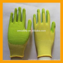 Umweltschutz atmungsaktive Schaumlatex beschichtete Kinderhandschuhe