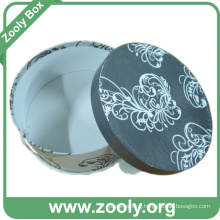 Printed Round Keepsake Gift Box / Decorative Paper Hatbox
