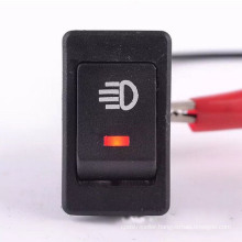 Red Car 4 Pins DC12V LED Fog Toggle on /off Switch