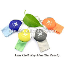 Eyeglass Gel Pouch With Cleaning Cloth Inside