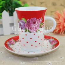 Las tazas rojas esmaltadas porcelana disponible servicio del OEM ODM para la cocina Ware, Ware de tabla, etc.