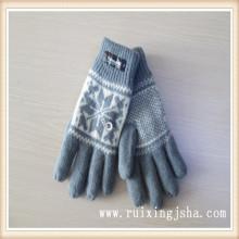 Вязаные шерстяные перчатки с изолирующие накладки