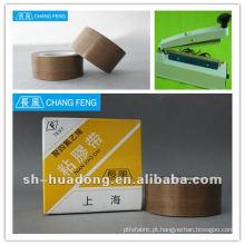 Alta vedação PTFE revestida de fita adesiva de fibra de vidro/tecidos para a selagem do saco