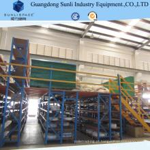 Assoalho de mezanino da cremalheira da construção de aço do armazenamento do armazém com ISO / GV