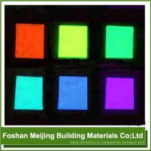 популярная стеклянная мозаика светящаяся в темноте fluoresent порошок