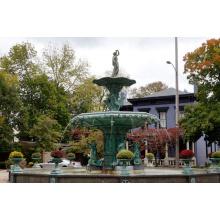 grande jardim ao ar livre jardim de metal escultura de bronze de fundição de água