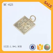 MC625 Logo en métal doré pour bracelet de charme