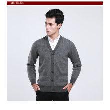 Yak Wool/Cashmere V Neck Cardigan Long Sleeve Sweater