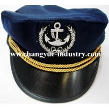 Navy marine Baumwolle Stickerei Matrose Kapitän Mütze Hut