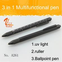 Популярные 3 в 1 многофункциональная ручка с ультрафиолетом