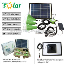 Nuevo CE portable solar alumbrado con bombillas led para hogar lighting(JR-SL988) emergencia