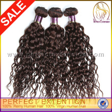 Good Quality Curly Wave Chinese Remy Human Hair Bonded