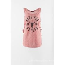 Single jersey sleeveless T shirt