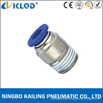 Pneumatic Round Male Straight One Touch Fittings for Air Poc12-01