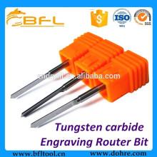 BFL carburo de tungsteno en forma de V largo grabado enrutador bit Fabricación