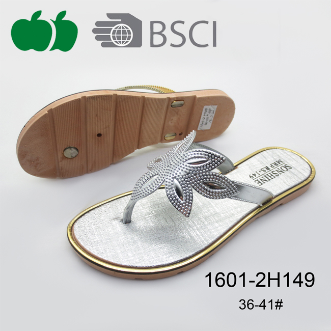Hot Selling Ladies Fashion Summer Cheap Slipper Shoes