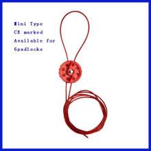 Cable de nylon y metal Mini Tipo bloqueo de cable C14