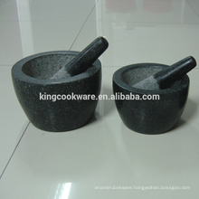 natural herb spices tools granite /marble mortar and pestle for grinding factory sell