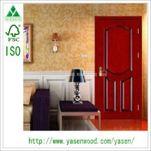 Entrada de painel levantada terminado paiting portas de madeira