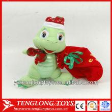 La venta caliente lindo y la felpa rellena los juguetes de la tortuga para el día de la Navidad