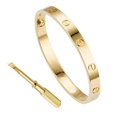Bracelets for Women Love Bracelet Bangle for Couples Buckle Pulseras de Mujer Titanium Steel Girlfriend Boyfriend Valentines Wed