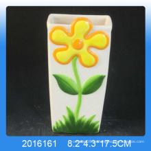 Diseño de la flor de la decoración de la alta calidad Humidificador de aire de cerámica