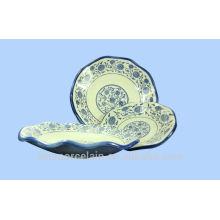 NUEVA placa de cerámica de hoja de loto con estilo clásico de China para BS-H0015