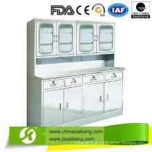 Armário de tratamento de instrumentos hospitalares com quatro gavetas