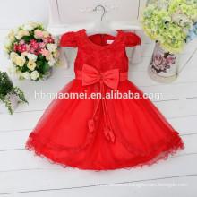 children clothes Korean fashion white color flower girl dress 3 year old girl dress