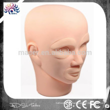 Permanente Tattoo Maquiagem 3D Prática Mannequin Cabeça Com Inserções Cosméticos
