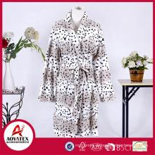 new style super soft printed coral fleece bathrobe