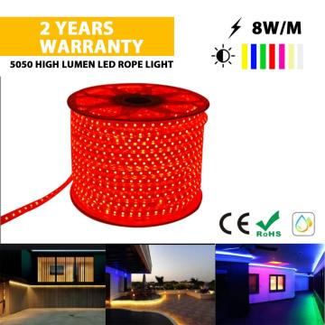 5050 Tira de luz LED de color rojo